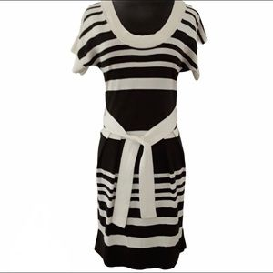 Banana Republic Scoop Neck Striped Sheath Dress